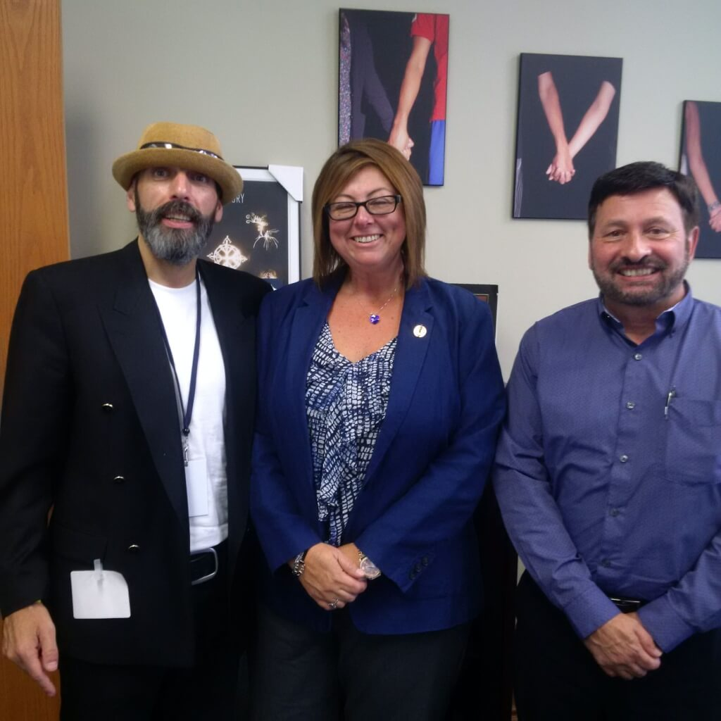 Jay and Frank with NDP MPP Monique Taylor
