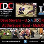 Dave Stevens - U.S.A. TDC Reporter at the Super Bowl - Mpls/St. Paul