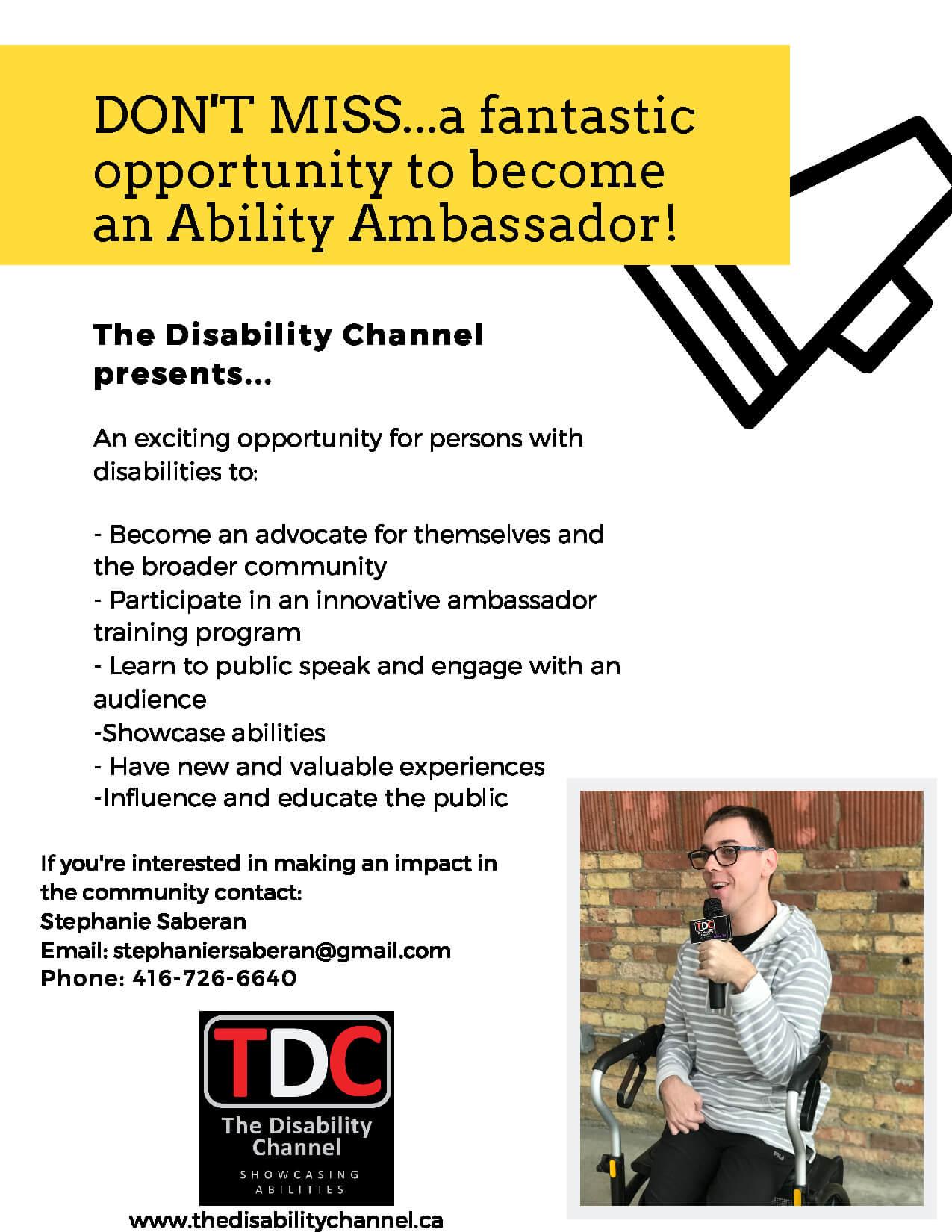 TDC Ambassador flyer