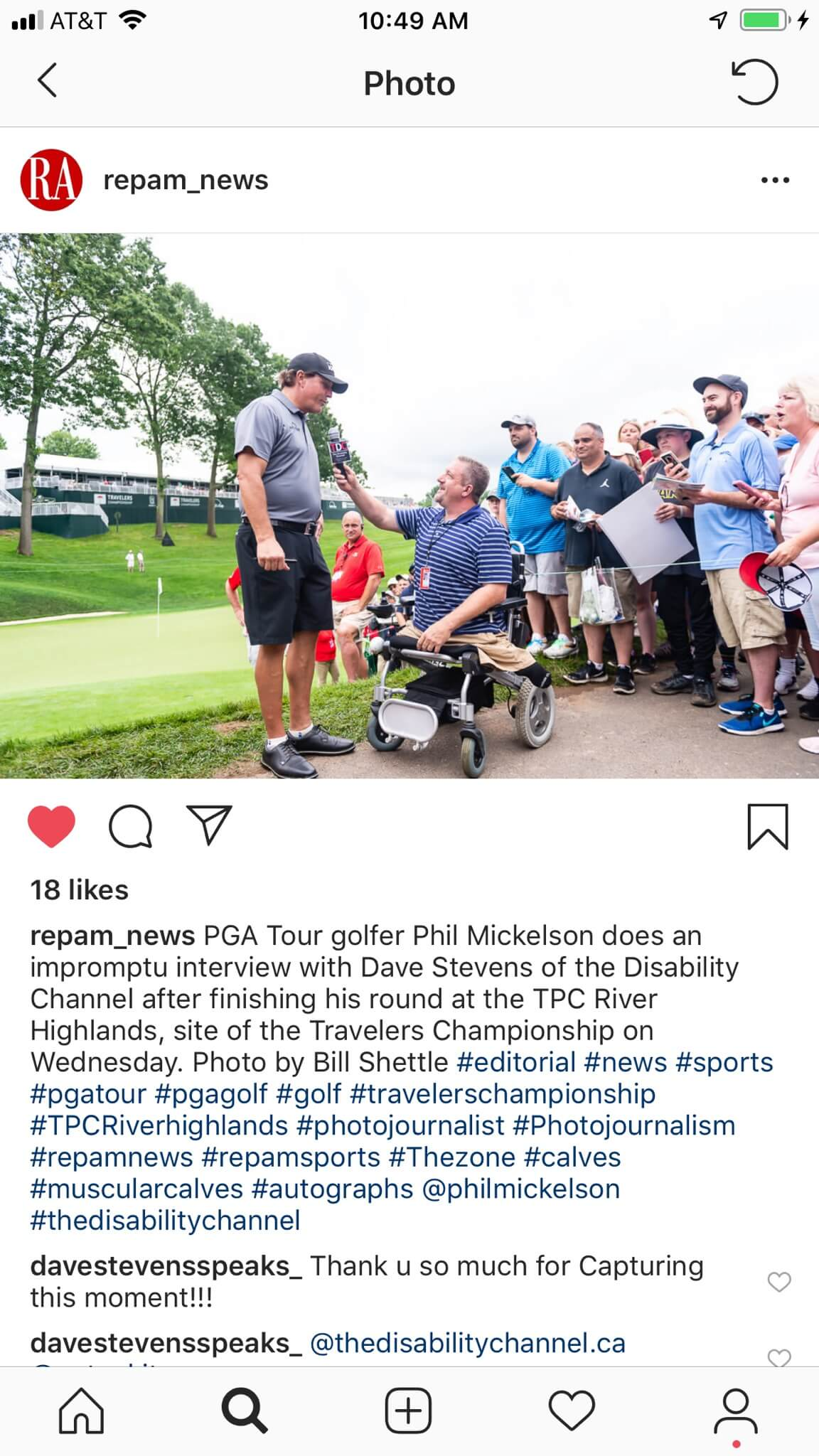 Dave Stevens on the PGA tour