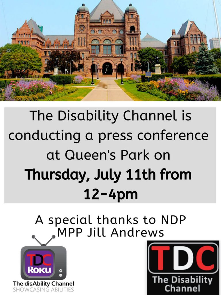 Queen's Park Media Conference