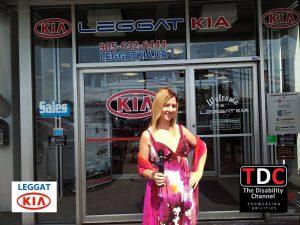 TDC at Leggat Kia Burlington with Host Cynthia out front