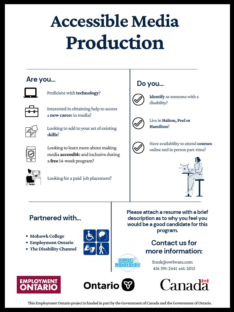 Accessibile Media Production flyer