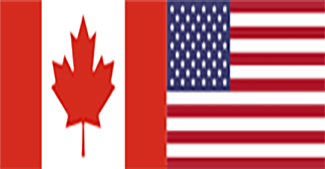 Canada and U.S.A flags