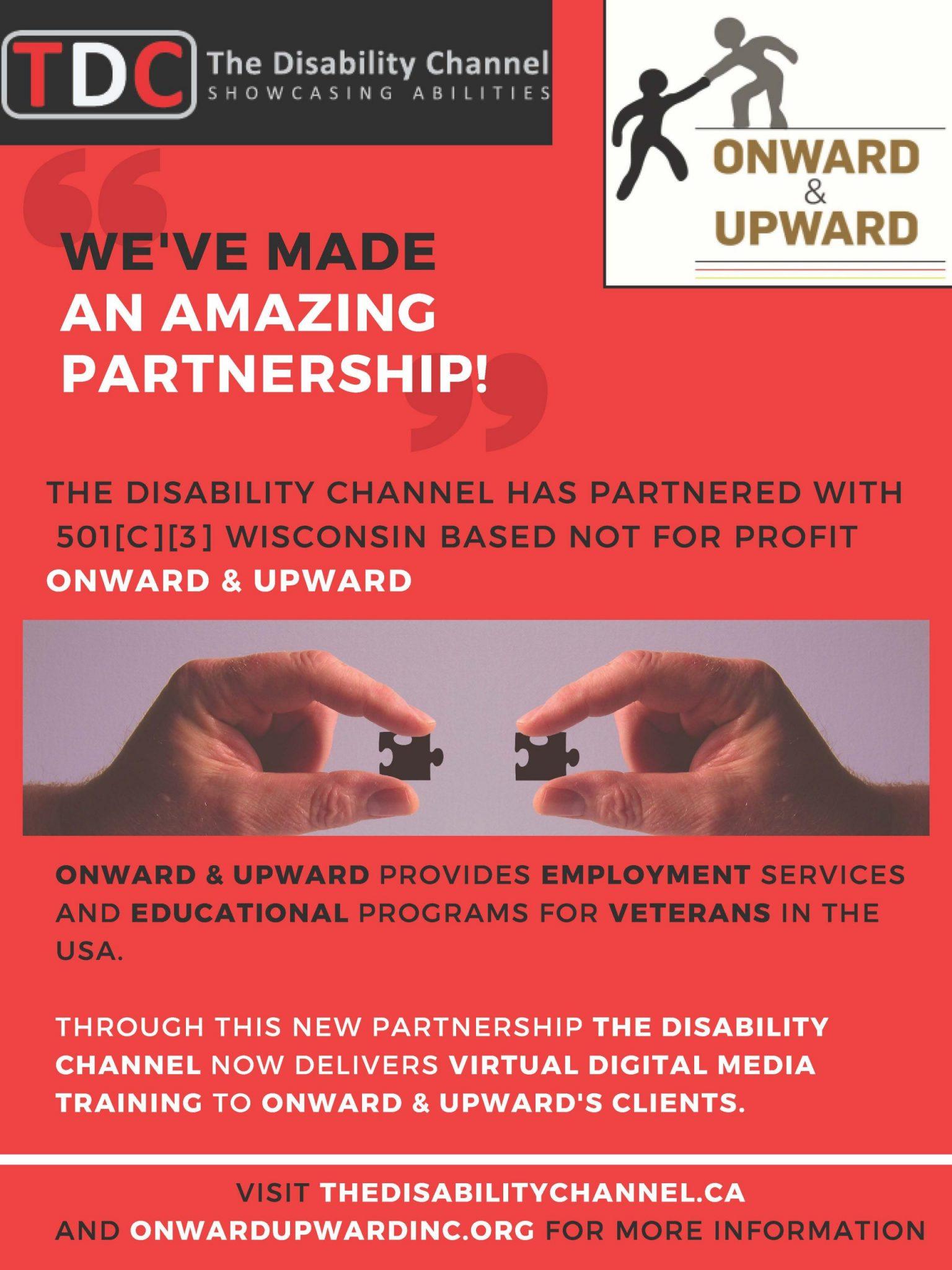 We've Made an amazing partnership with Onward & Upward flyer