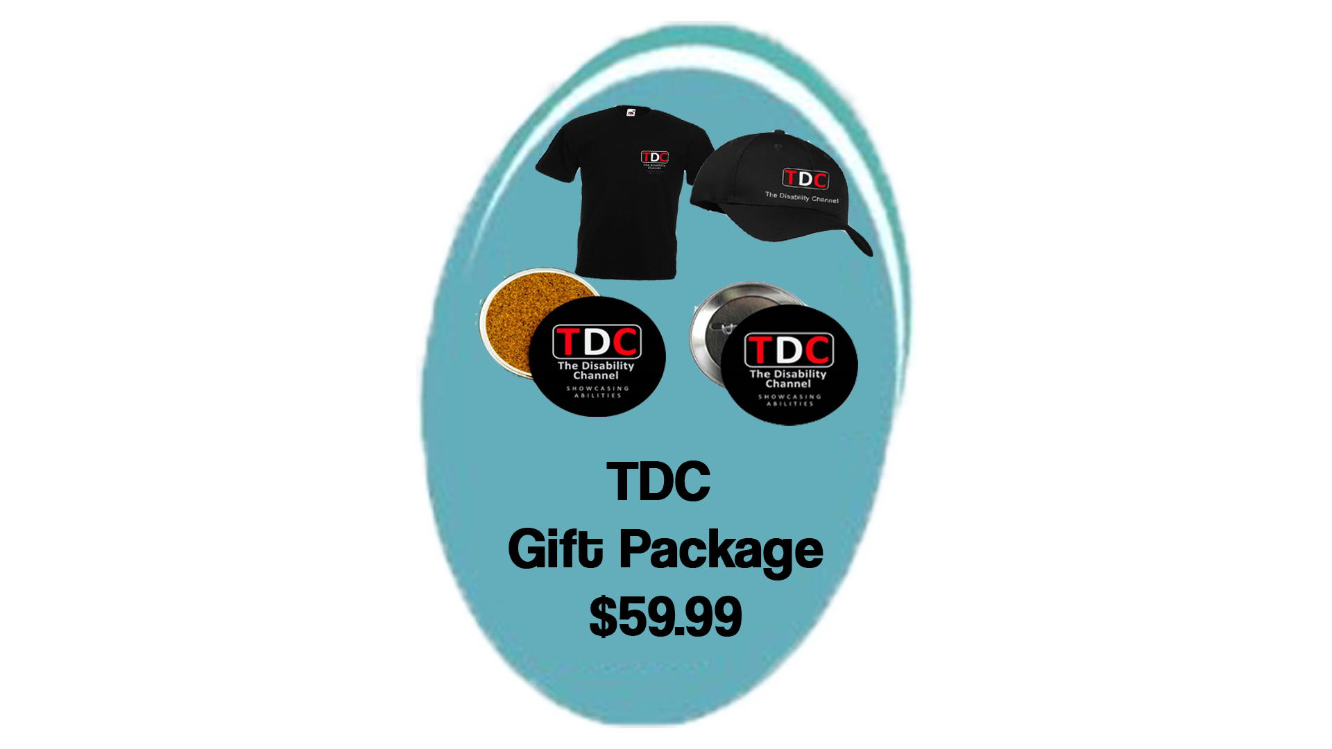 TDC Gift Package - contains shirt, hat, coasters, buttons - $59.99