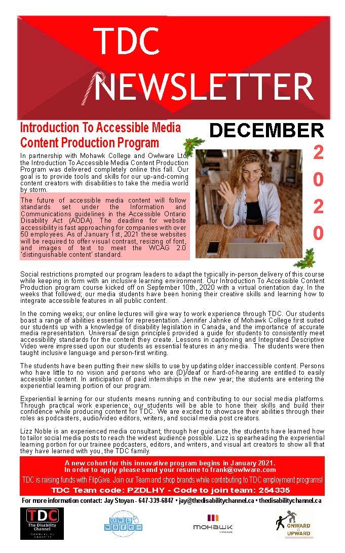 TDC December 2020 Newsletter